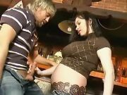 Horny man spoils pregnant teen girl