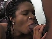 Nine months pregnant black woman in hardcore amateur action